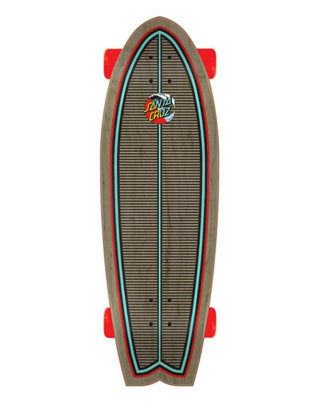 "Santa Cruz Skate Cruiser Classic Wave Splice Shark 27.7"""