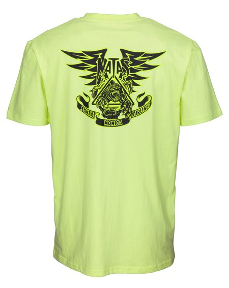 Santa Cruz Natas Panther T-Shirt Uomo Limelight