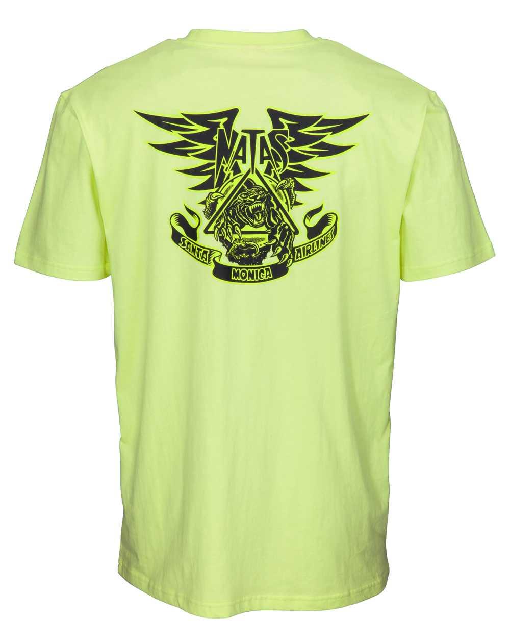 Santa Cruz Men's T-Shirt Natas Panther Limelight