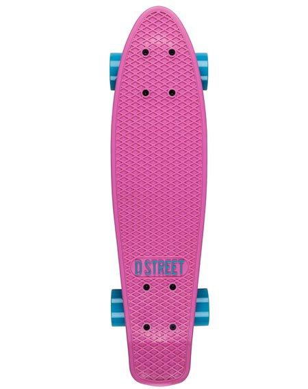 D-Street Poly Prop Skateboard Cruiser Pink/Blue