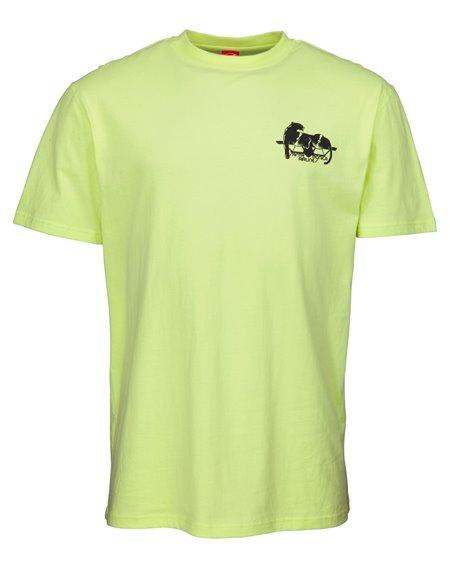 Santa Cruz Natas Panther T-Shirt Uomo Limelight