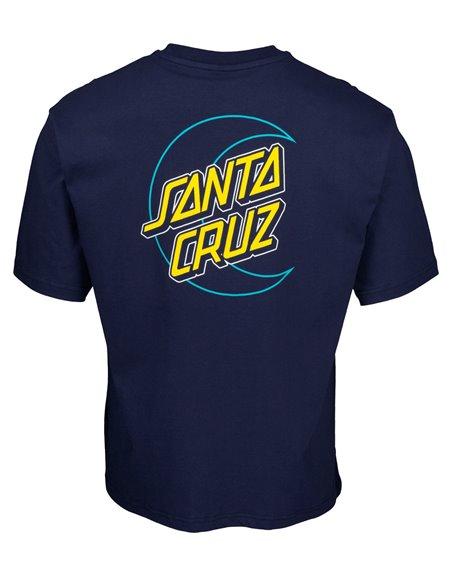 Santa Cruz Empty Moon Dot T-Shirt Homme Dark Navy