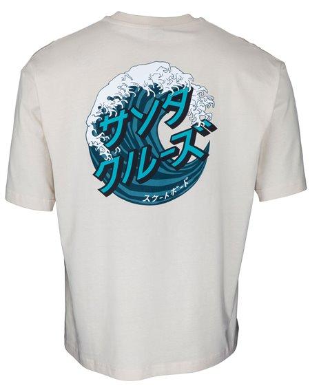 Santa Cruz Japanese Wave Dot T-Shirt Homme Off White
