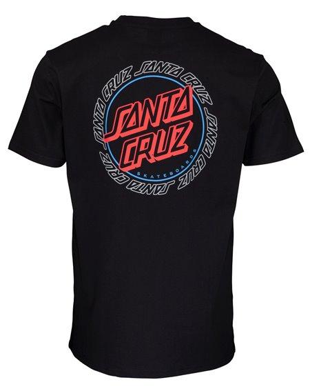 Santa Cruz Hollow Ring Dot T-Shirt Homme Black
