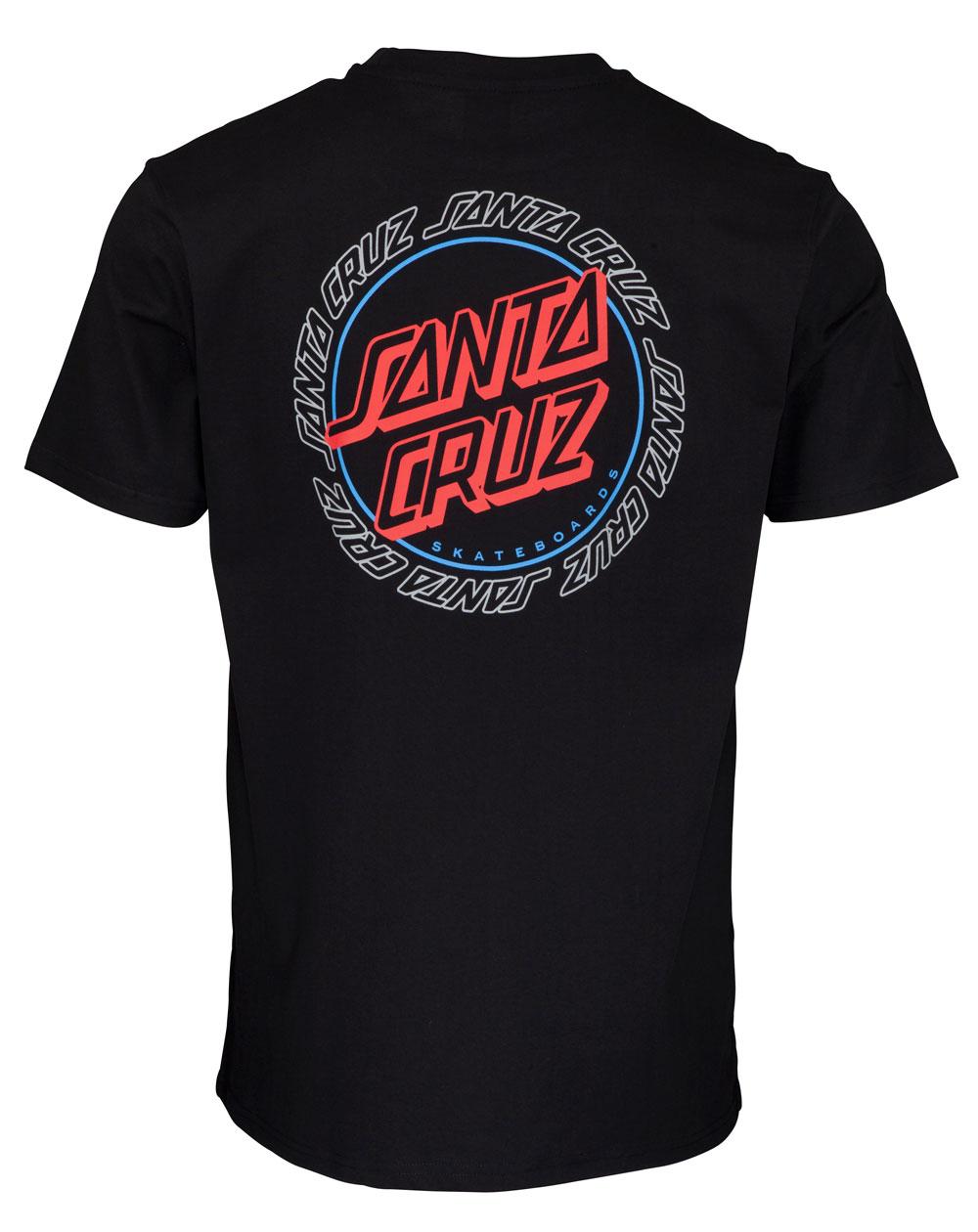 Santa Cruz Men's T-Shirt Hollow Ring Dot Black