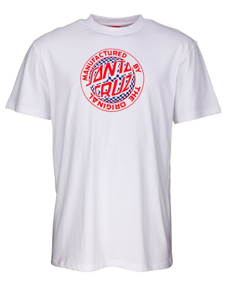 Santa Cruz Men's T-Shirt Fisheye MFG White
