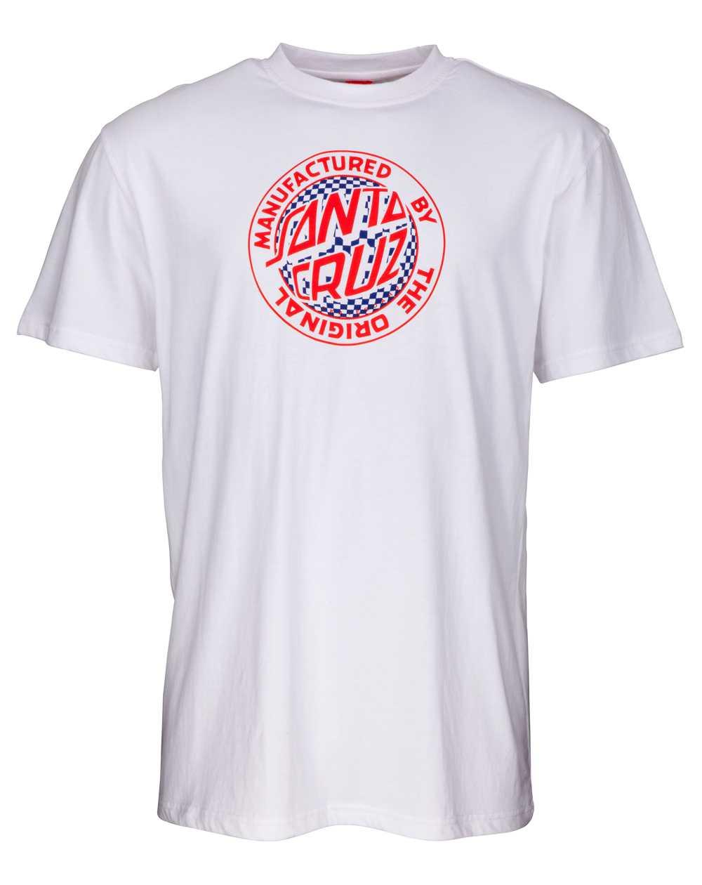 Santa Cruz Fisheye MFG T-Shirt Uomo White