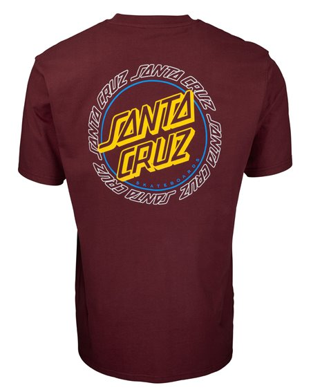 Santa Cruz Hollow Ring Dot T-Shirt Uomo Burgundy