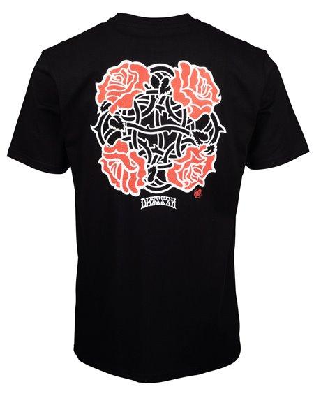 Santa Cruz Dressen Roses Club Camiseta para Homem Black