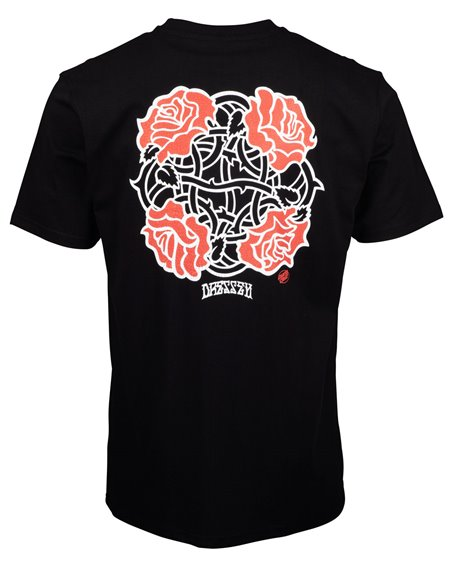 Santa Cruz Men's T-Shirt Dressen Roses Club Black