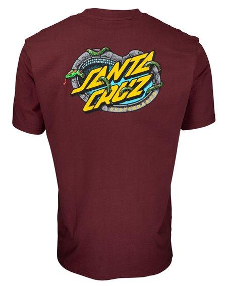 Santa Cruz Pool Snakes Camiseta para Homem Burgundy