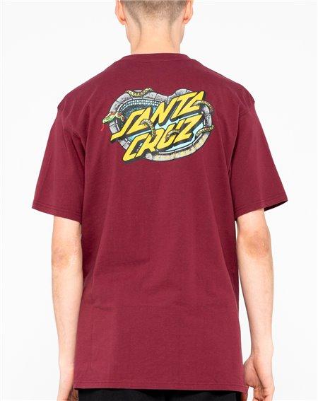 Santa Cruz Men's T-Shirt Pool Snakes Burgundy