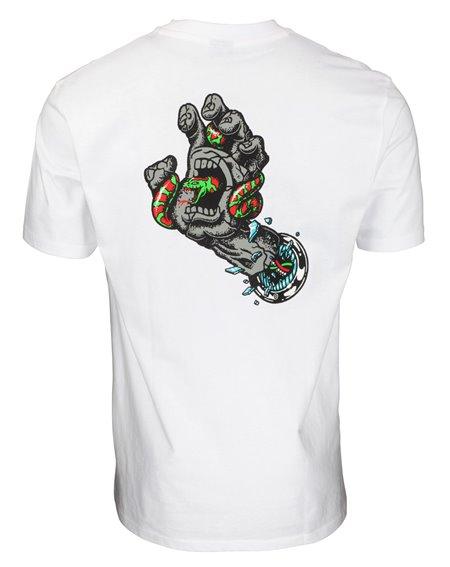 Santa Cruz Pool Snakes Hand T-Shirt Uomo White