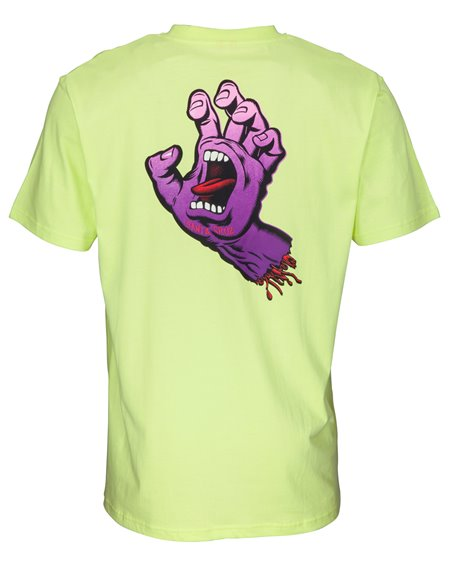 Santa Cruz Men's T-Shirt Fade Hand Limelight