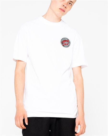 Santa Cruz Men's T-Shirt Pool Snakes Hand White