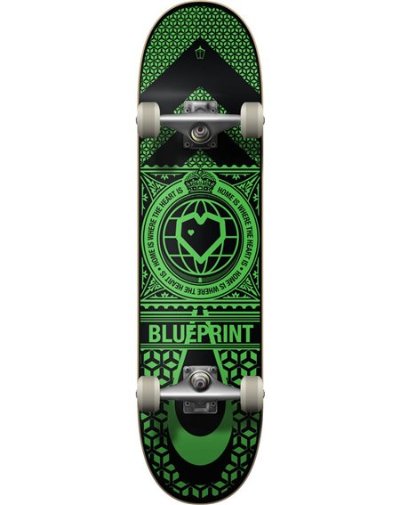 "Blueprint Skate Montado Home Heart 8.00"" Black/Green"