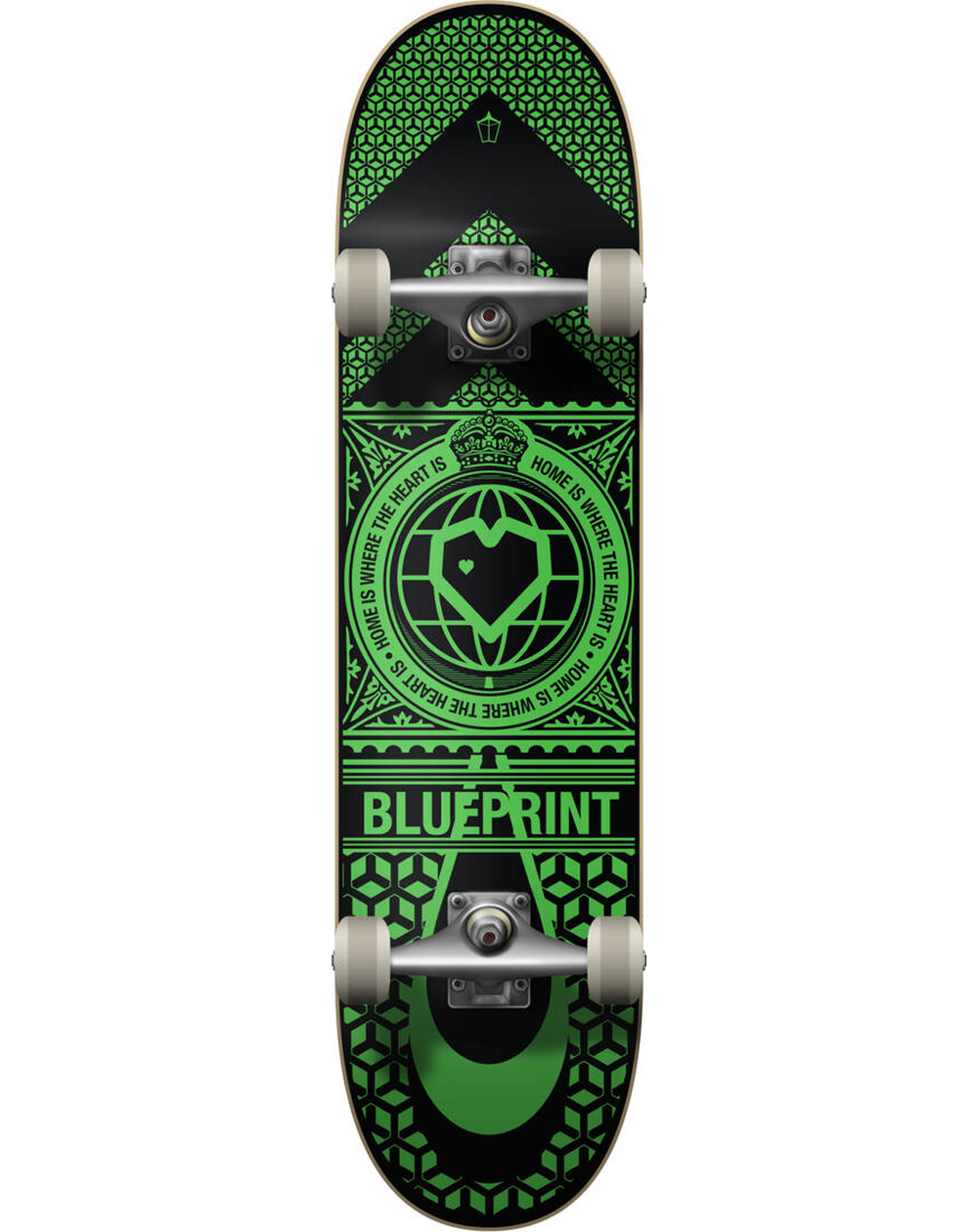 "Blueprint Skateboard Home Heart 8.00"" Black/Green"