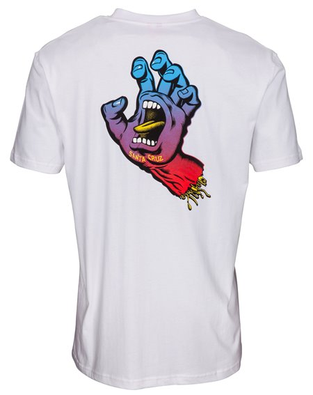 Santa Cruz Men's T-Shirt Fade Hand White