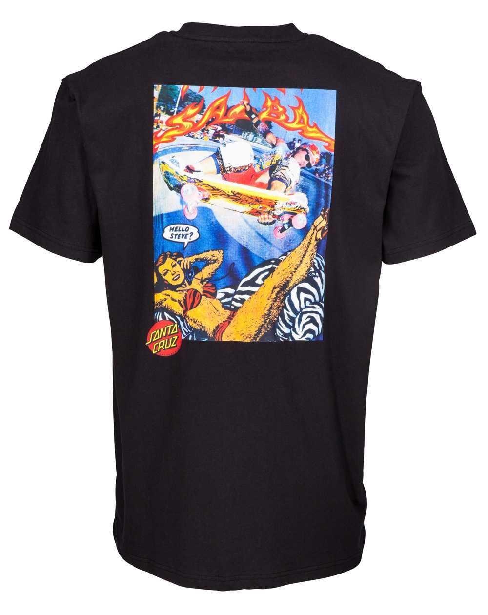 Santa Cruz Men's T-Shirt Hello Steve? Black