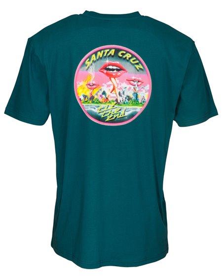 Santa Cruz Invade T-Shirt Uomo Ink Blue