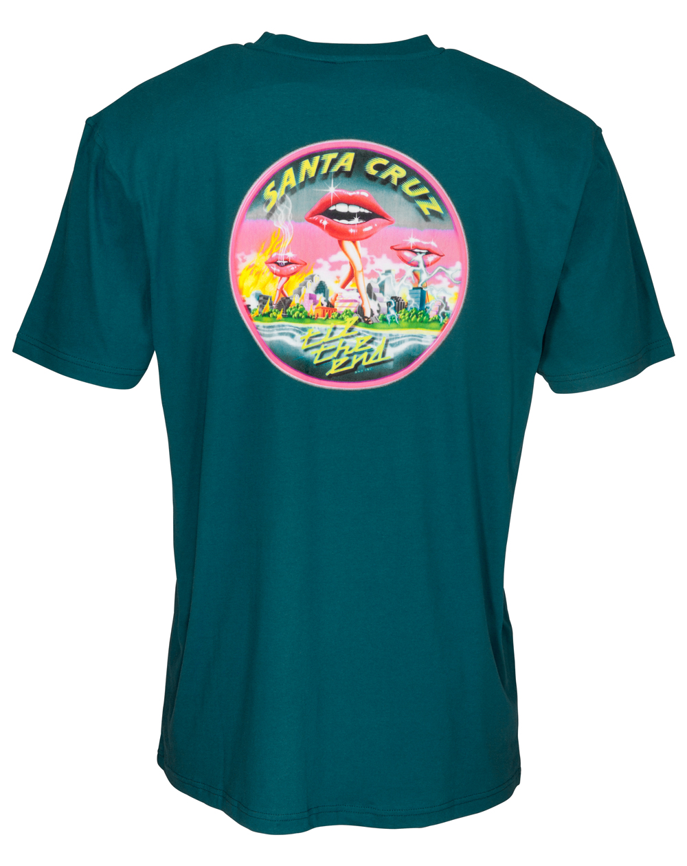 Santa Cruz Men's T-Shirt Invade Ink Blue