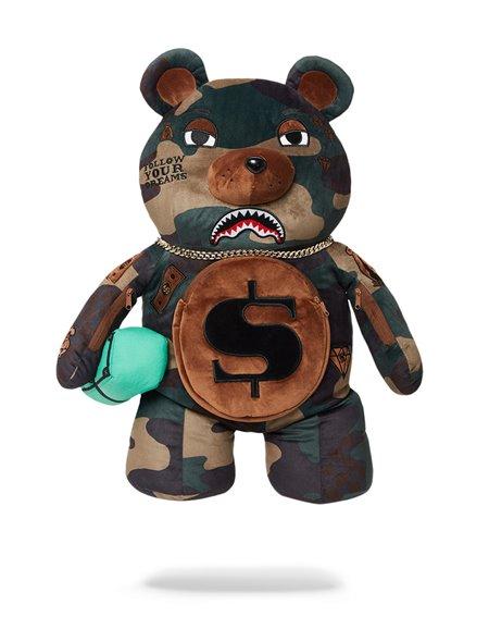 Sprayground Mochila Checks and Camo Teddy Bear