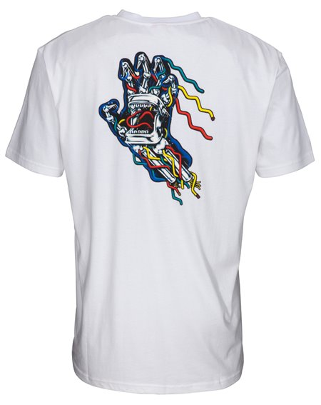 Santa Cruz Hand Wired T-Shirt Uomo White