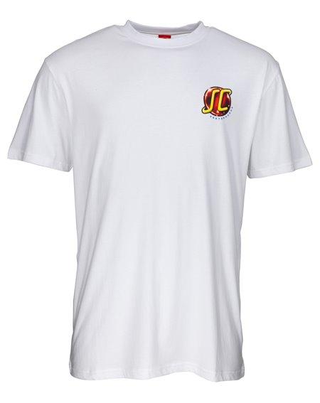 Santa Cruz Men's T-Shirt Hand Wired White