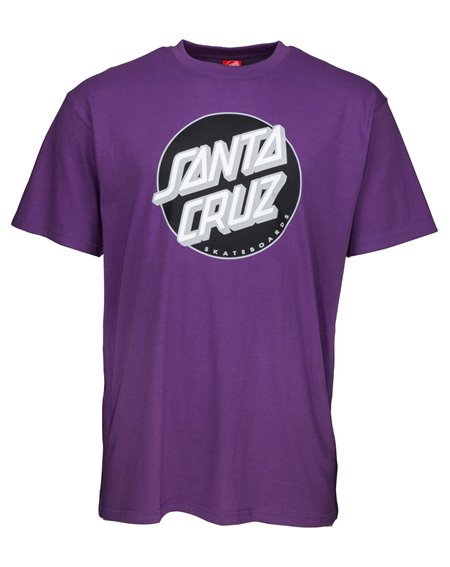 Santa Cruz Men's T-Shirt Classic Dot Purple
