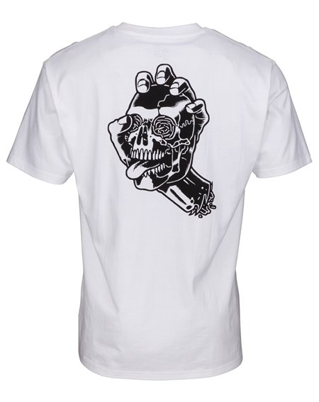 Santa Cruz Men's T-Shirt Screaming Skull White