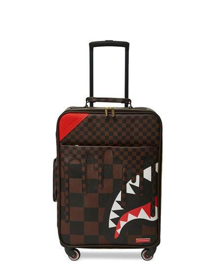 Sprayground Sharks In Paris XTC Carry On Suitcase 4 Wheels TSA Lock