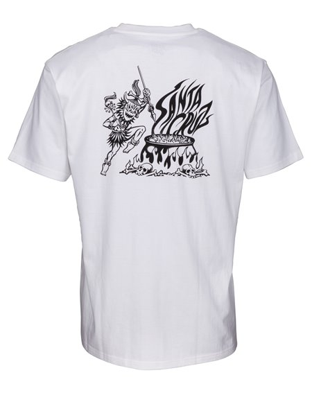 Santa Cruz Men's T-Shirt Salba Witch Doctor White