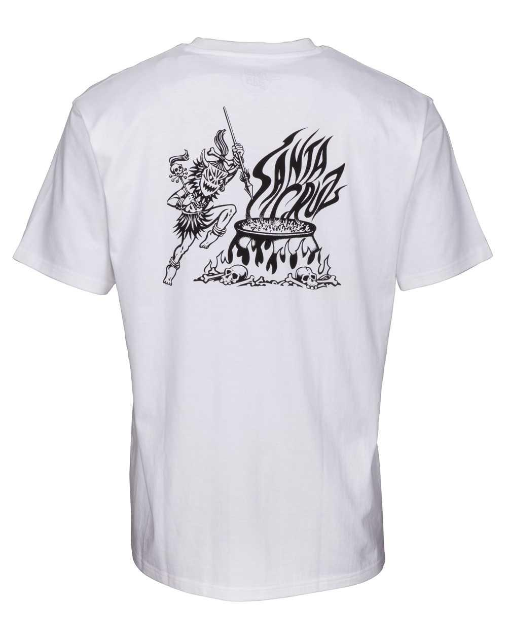 Santa Cruz Herren T-Shirt Salba Witch Doctor White