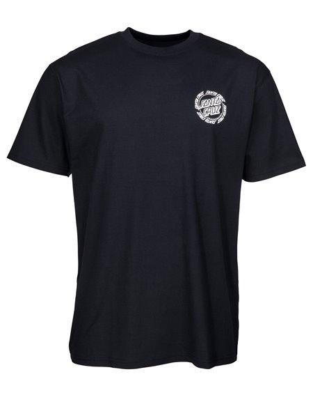 Santa Cruz Ringed Dot T-Shirt Uomo Black