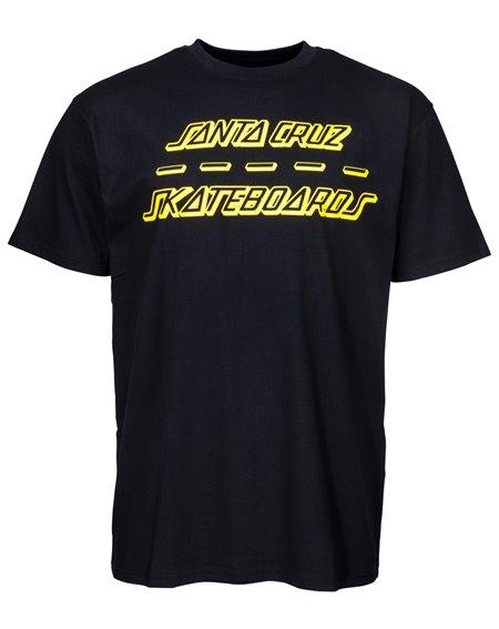 Santa Cruz Street Strip T-Shirt Homme Black