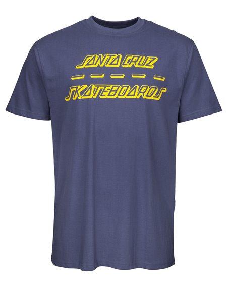 Santa Cruz Street Strip Camiseta para Homem Vintage Navy