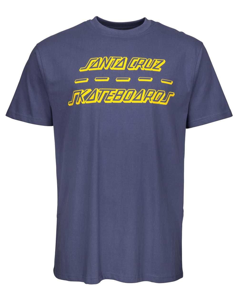 Santa Cruz Street Strip T-Shirt Uomo Vintage Navy