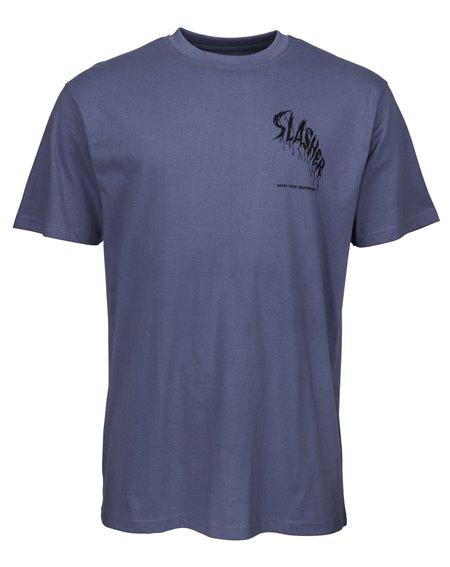 Santa Cruz Wave Slasher T-Shirt Homme Vintage Navy