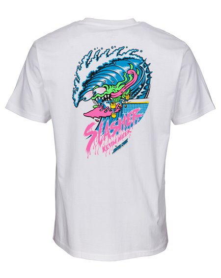 Santa Cruz Men's T-Shirt Wave Slasher White
