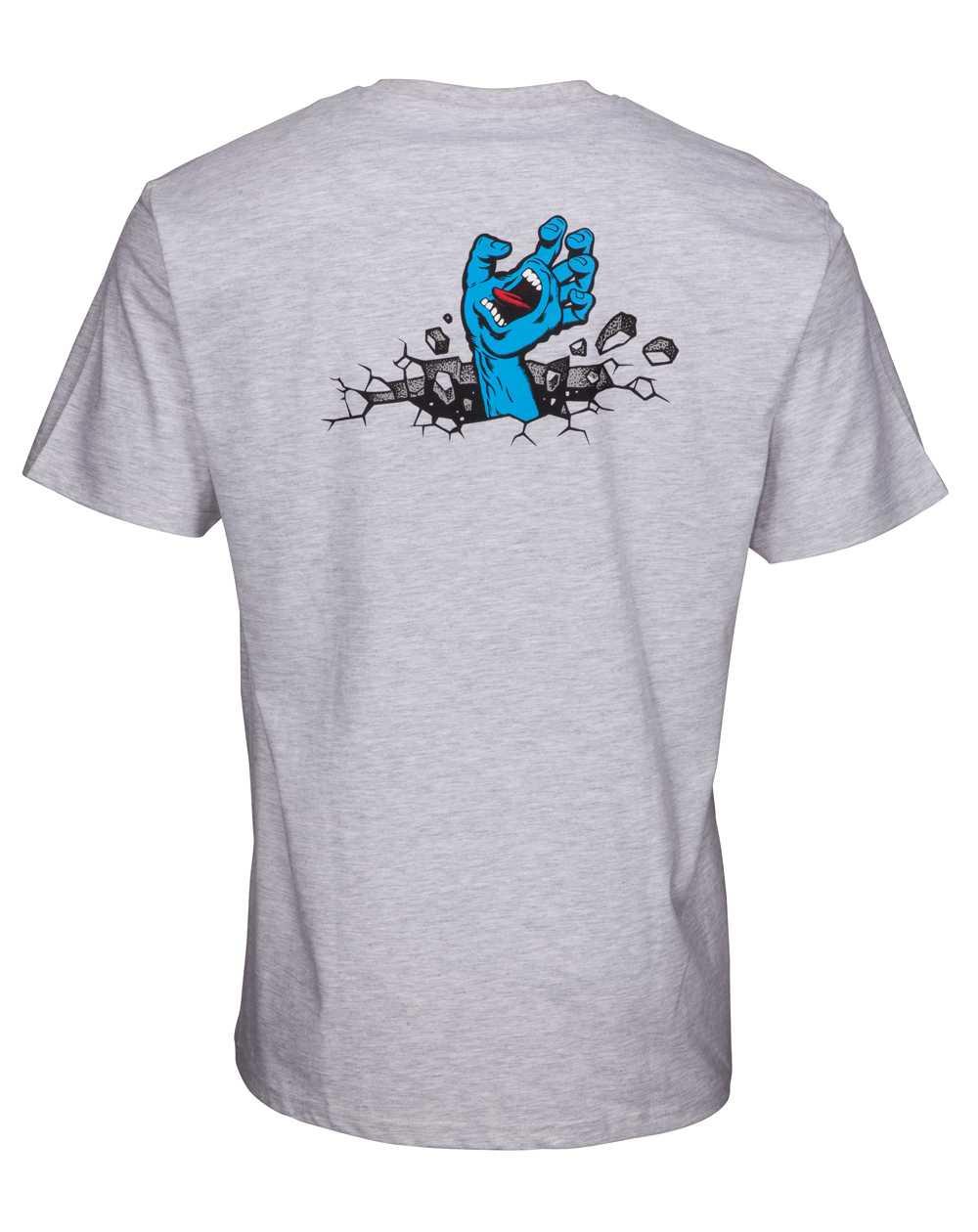 Santa Cruz Hand Wall T-Shirt Uomo Atlethic Heather