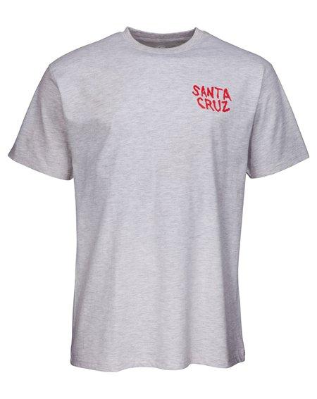 Santa Cruz Men's T-Shirt Hand Wall Atlethic Heather
