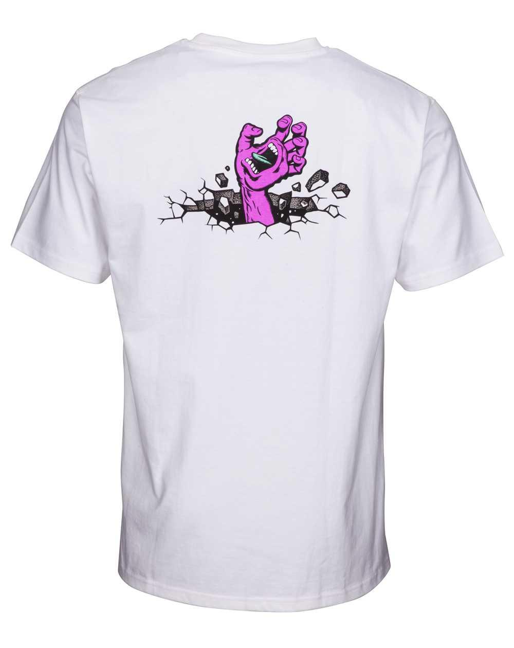 Santa Cruz Herren T-Shirt Hand Wall White
