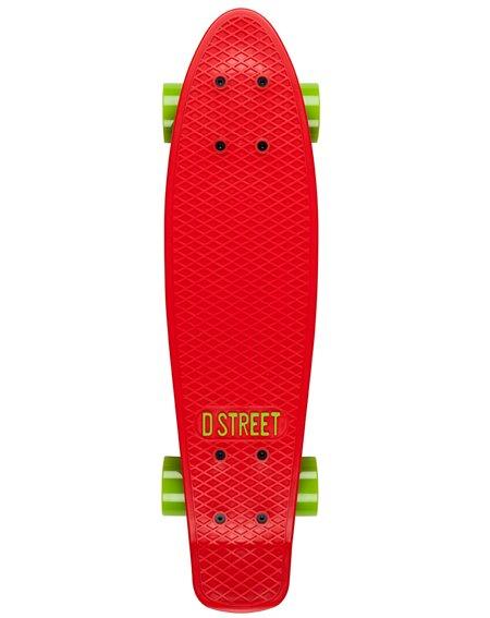 D-Street Poly Prop Skateboard Cruiser Red/Green