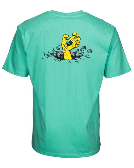 Santa Cruz Hand Wall T-Shirt Uomo Spearmint