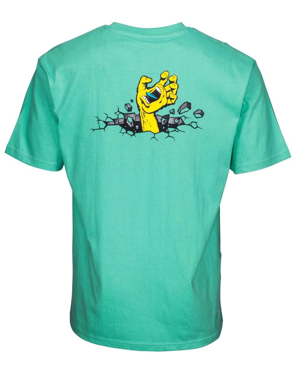 Santa Cruz Hand Wall T-Shirt Homme Spearmint