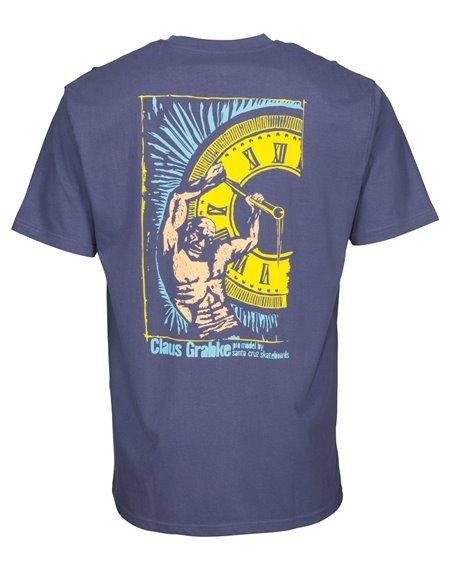 Santa Cruz Hold Back Time T-Shirt Uomo Vintage Navy