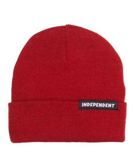 Independent Men's Beanie Bar Cardinal Red