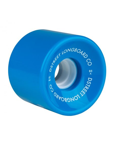 D-Street Ocean 65mm 83A Longboard Wheels Blue