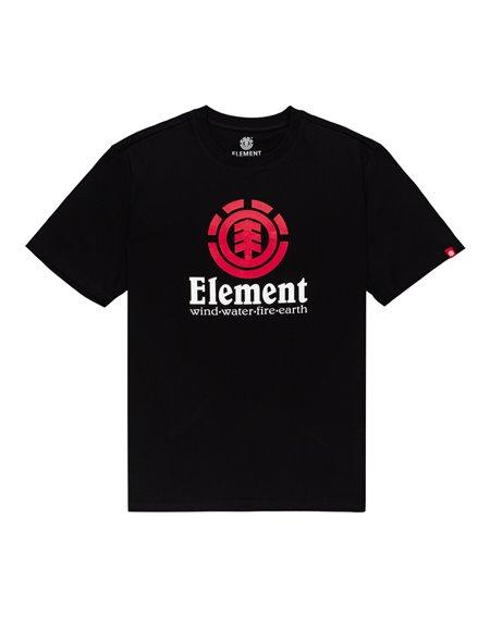 Element Vertical T-Shirt Uomo Flint Black