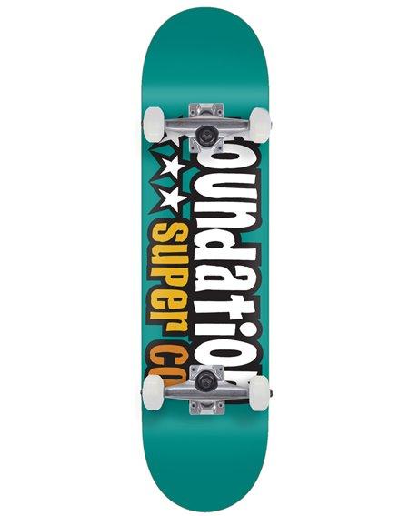 """Foundation 3 Star 7.80"""" Complete Skateboard Teal"""
